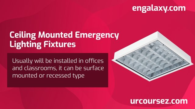 Ceiling Mounted Emergency Lighting Fixtures