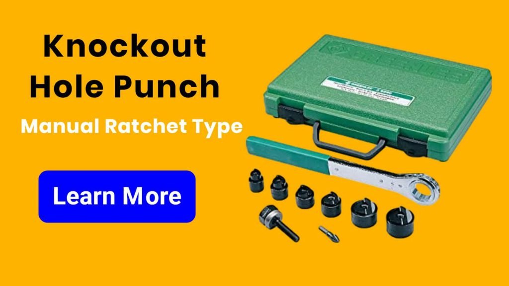 Knockout Hole Punch Manual Ratchet Type - engalaxy.com