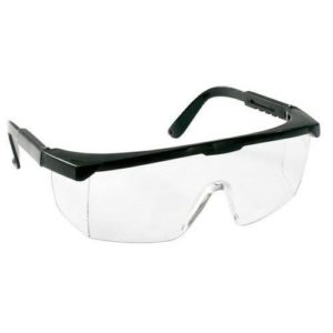 Safety goggles transparent