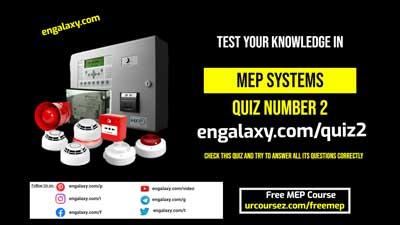 Fire alarm System Quiz - MEP Quiz 2