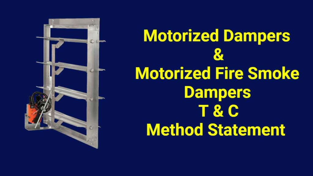 Motorized Dampers Testing and Commissioning Method Statement - engalaxy.com